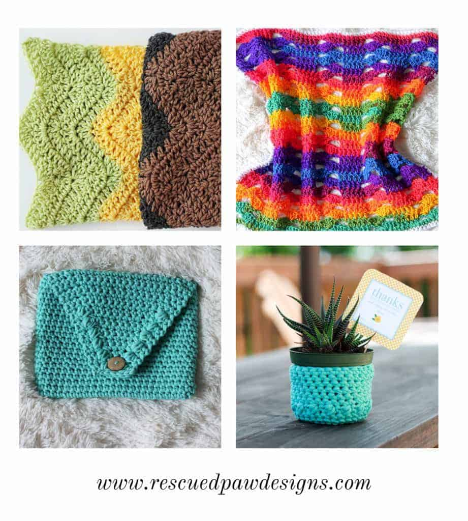 Learn how to Crochet with Rescued Paw Designs - www.rescuedpawdesigns.com