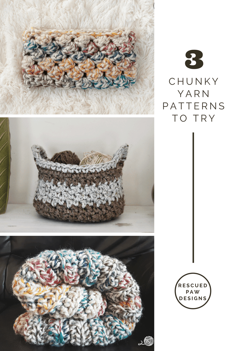 3 Chunky Yarn Patterns to Try! CROCHET PATTERNS USING WOOL-EASE THICK & QUICK