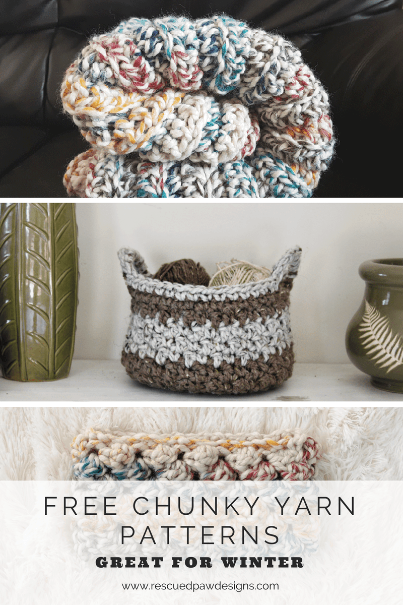 3 Chunky Yarn Patterns to Try! CROCHET PATTERNS USING WOOL-EASE THICK & QUICK - Crochet Patterns that are great for winter!
