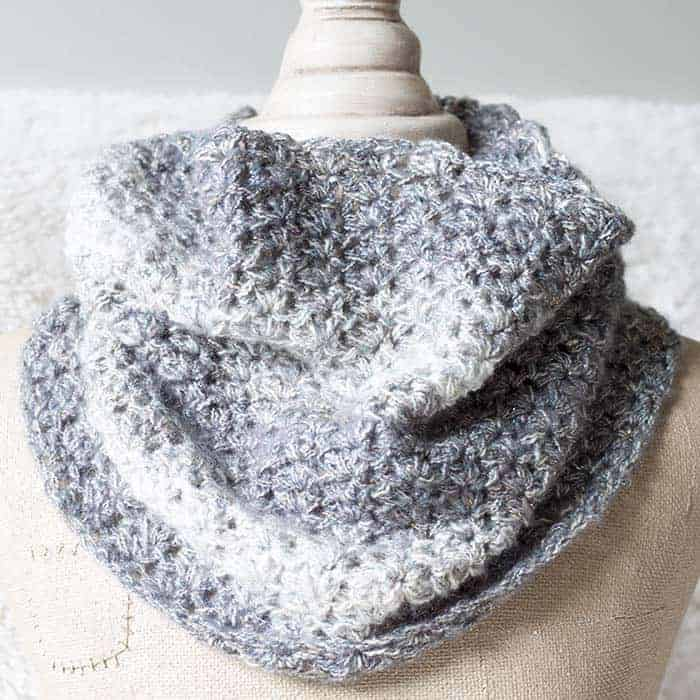 Shimmering Snow Cowl - Free Crochet Pattern from Rescued Paw Designs Crochet - Make now or Pin and Save for Later!