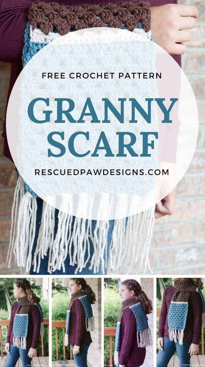 Free Granny Scarf Crochet Pattern