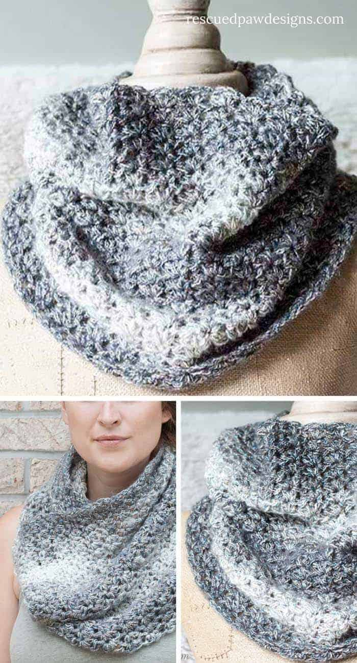 collage of the shimmering snow cowl