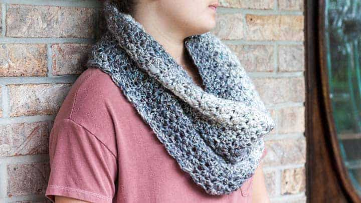 Shimmering Snow Cowl by Rescued Paw Designs