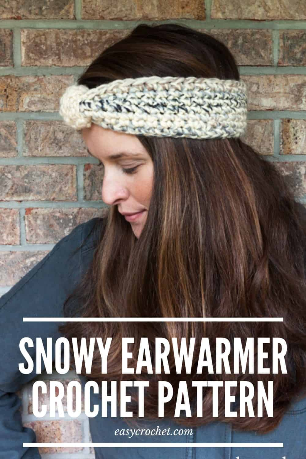 Free Crochet Ear Warmer Pattern - The Snowy Ear Warmer via @easycrochetcom