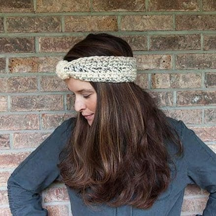 Snowy Crochet Headband