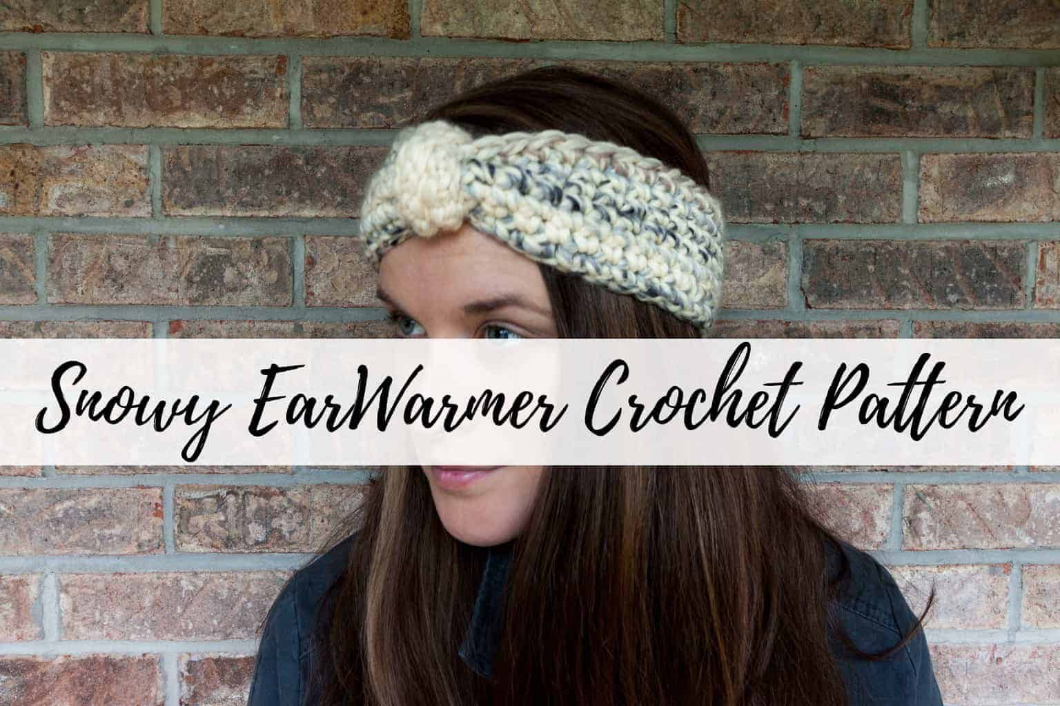 Snowy Crochet Earwarmer Pattern by Rescued Paw Designs - Make this easy beginner friendly pattern today!