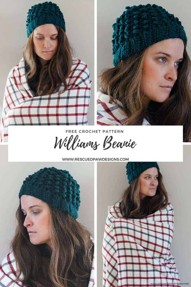 Love Beanies for winter? Then the Williams Crochet Beanie is for you! This hat is simple to work up, stylish and oh so soft! Make this FREE pattern today!