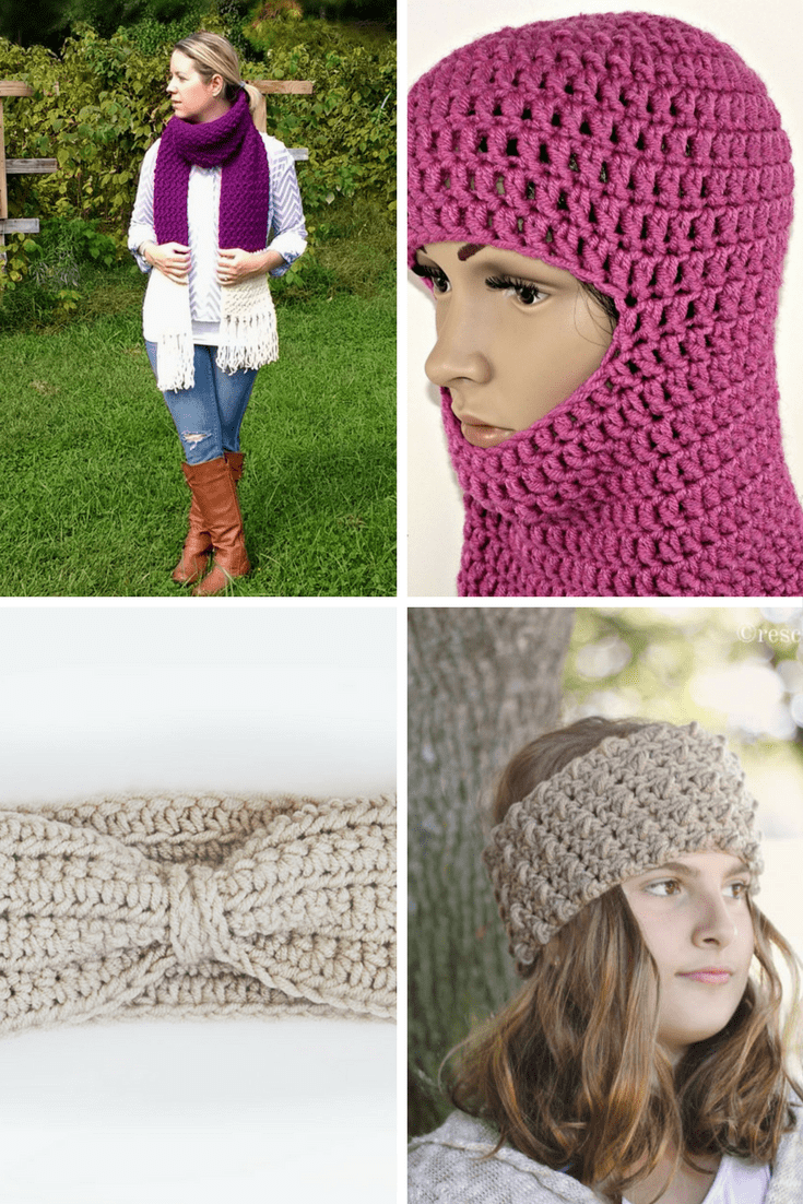 Crochet Patterns using Woolspun Yarn - 12 Free Crochet Patterns Compiled by Easy Crochet