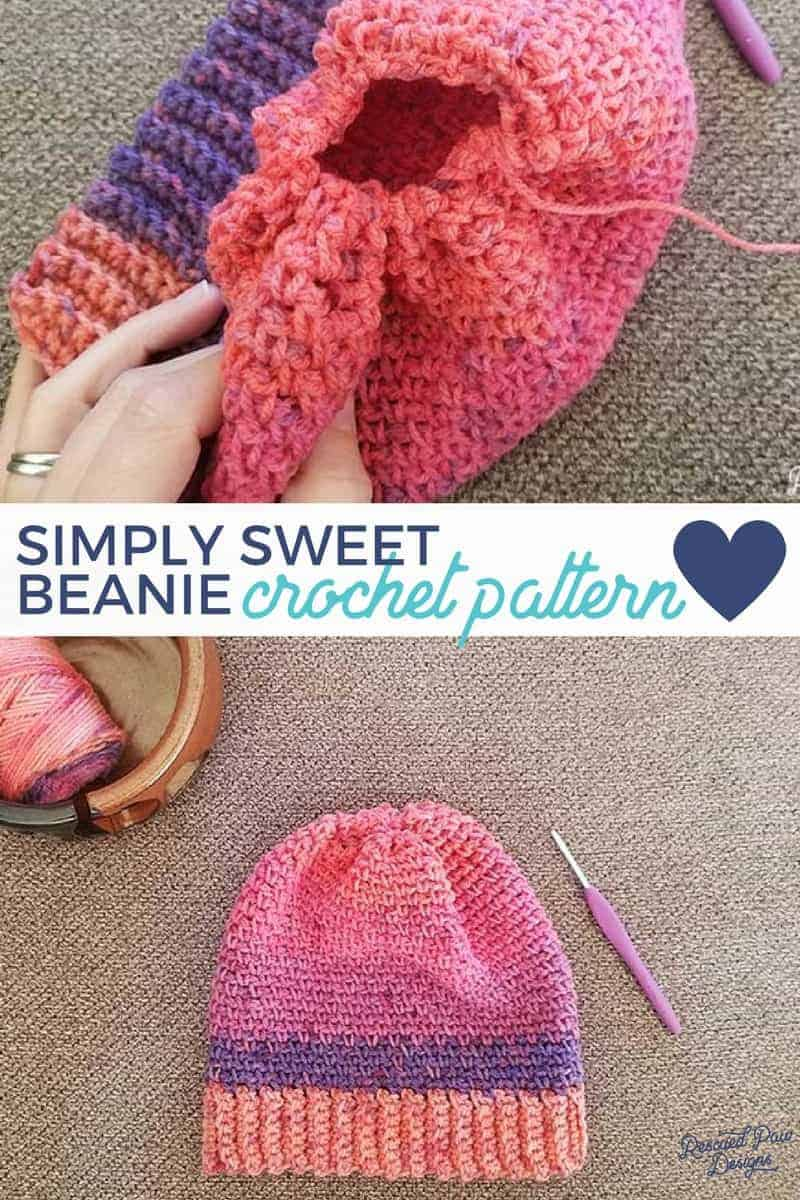 Simply Sweet Crochet Womens Beanie Pattern - Make this FREE crochet hat pattern today!