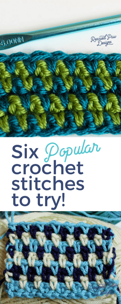 Six different Crochet Stitches to Try!