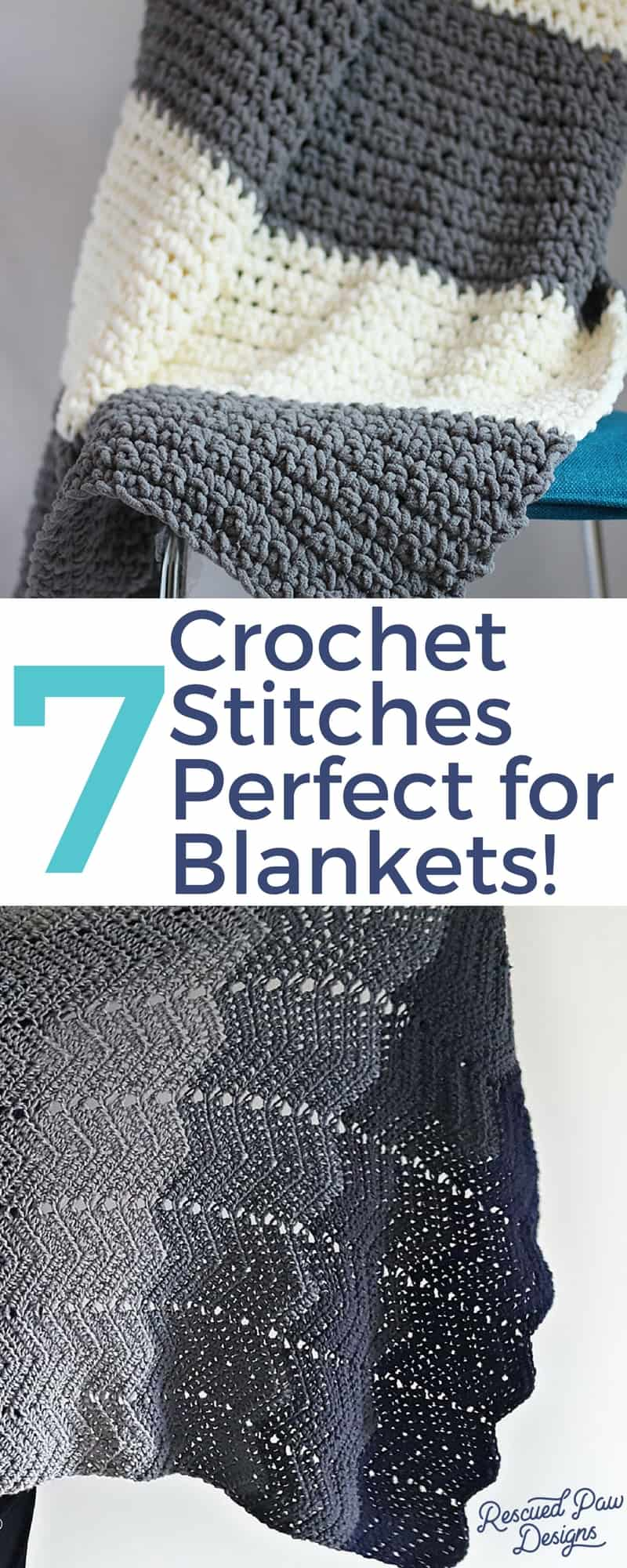 Crochet Stitches for Blankets - Use of these 7 stitches today to create the perfect crochet baby blanket!
