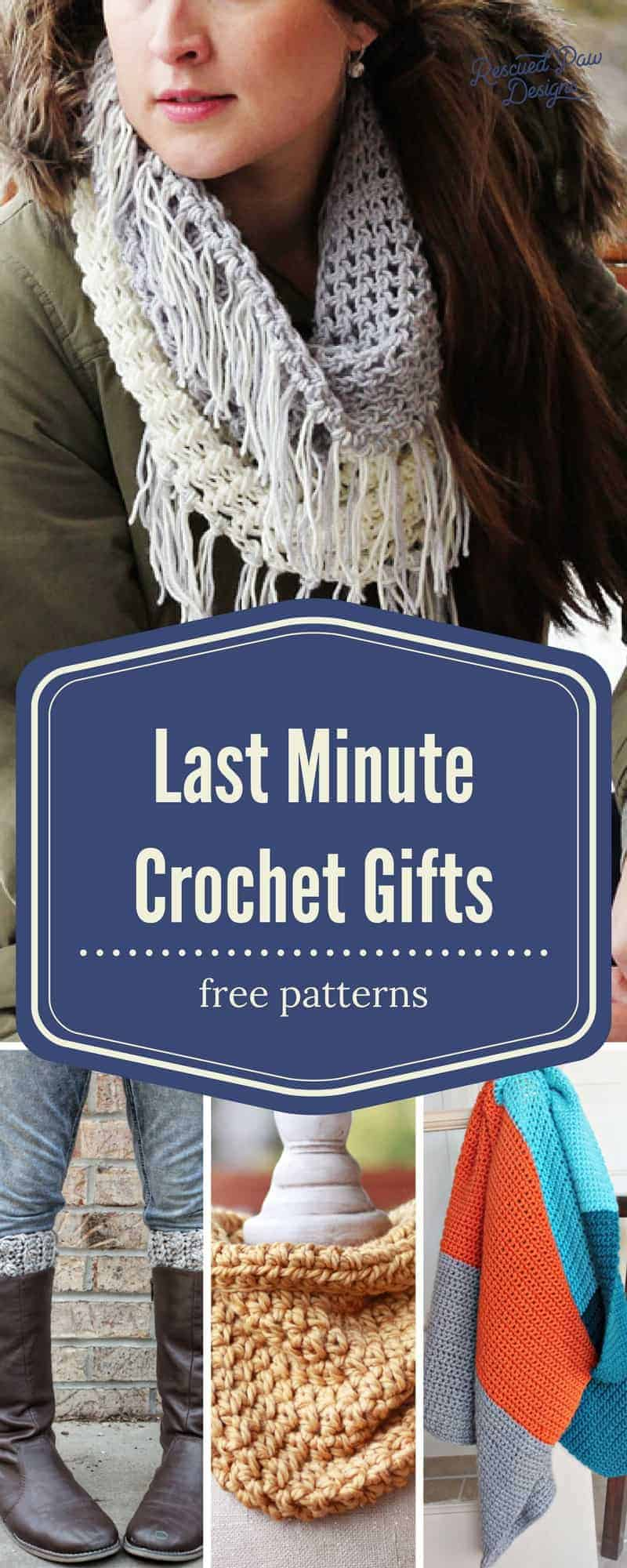 Last Minute Crochet Gifts- Make Last Minute Crochet Christmas Gifts in a Weekend! www.rescuedpawdesigns.com