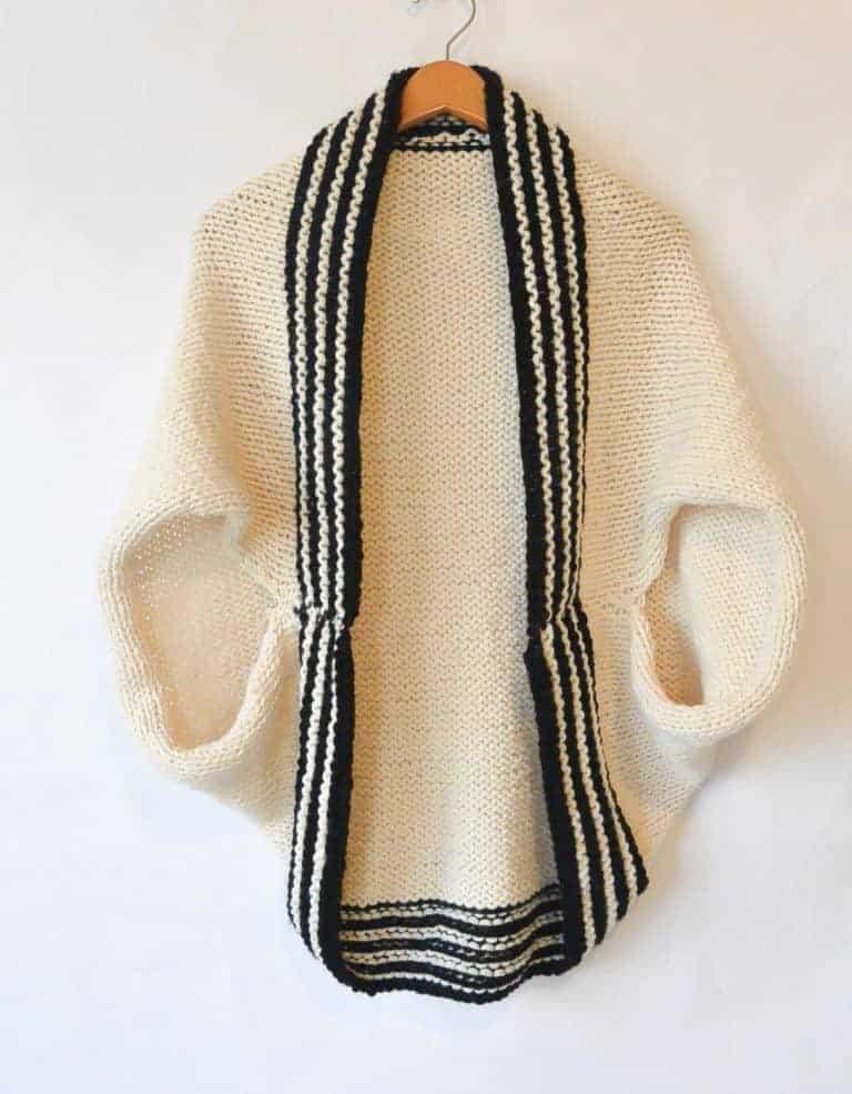 Easy Knit Sweater Pattern Wool Ease Free Pattern 768x986 Rescued