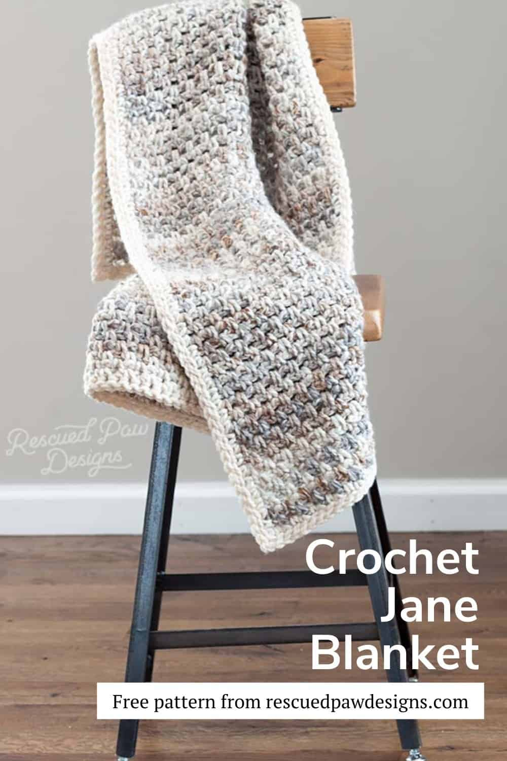 Free Crochet Blanket Pattern: The Jane a free pattern from easycrochet.com via @easycrochetcom