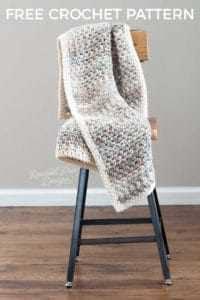 Crochet Throw Blanket on a chair
