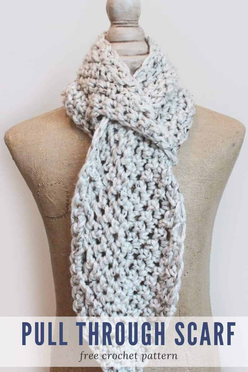 Adjustable Scarf Crochet Pattern - Make Last Minute Crochet Christmas Gifts in a Weekend! www.easycrochet.com