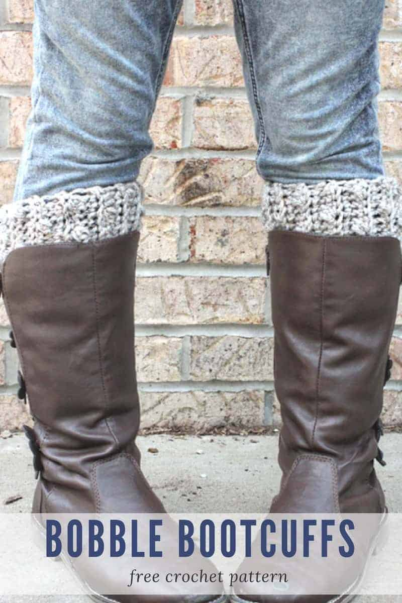 Bobble BootCuffs Crochet Pattern - Make Last Minute Crochet Christmas Gifts in a Weekend! www.rescuedpawdesigns.com