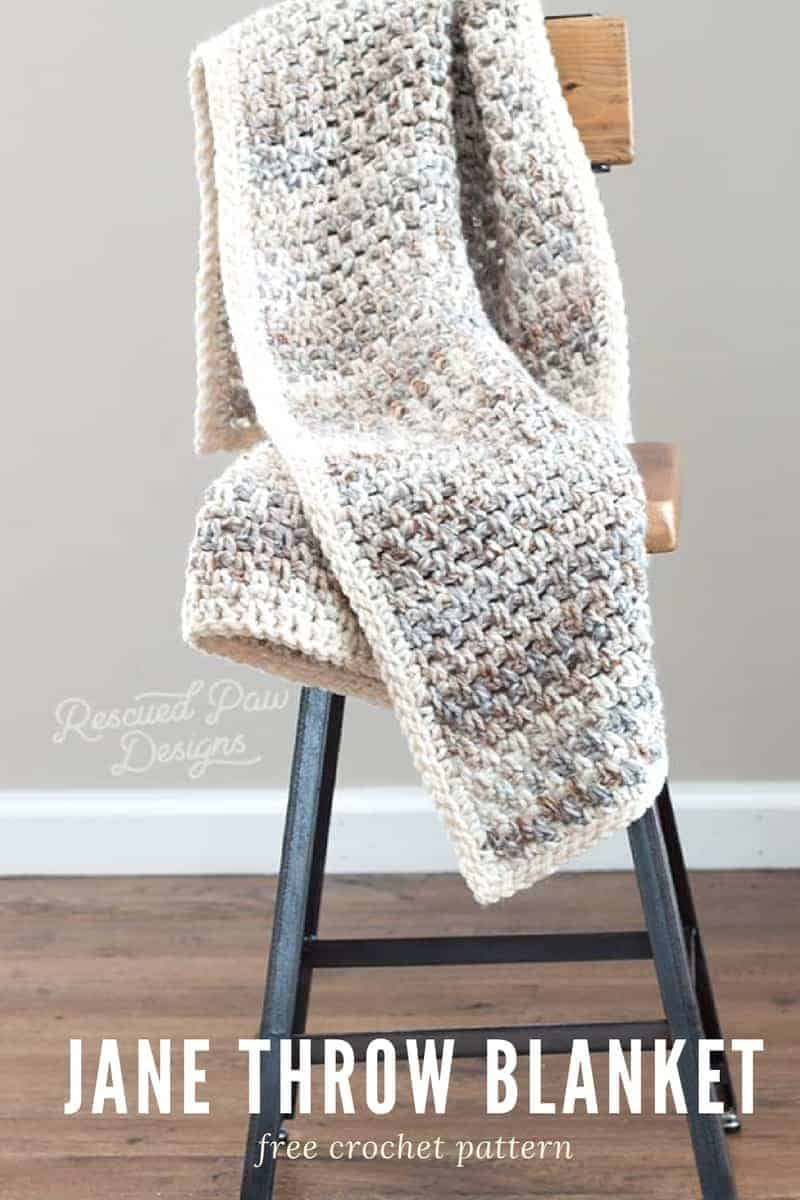 How to crochet a throw blanket tutorial