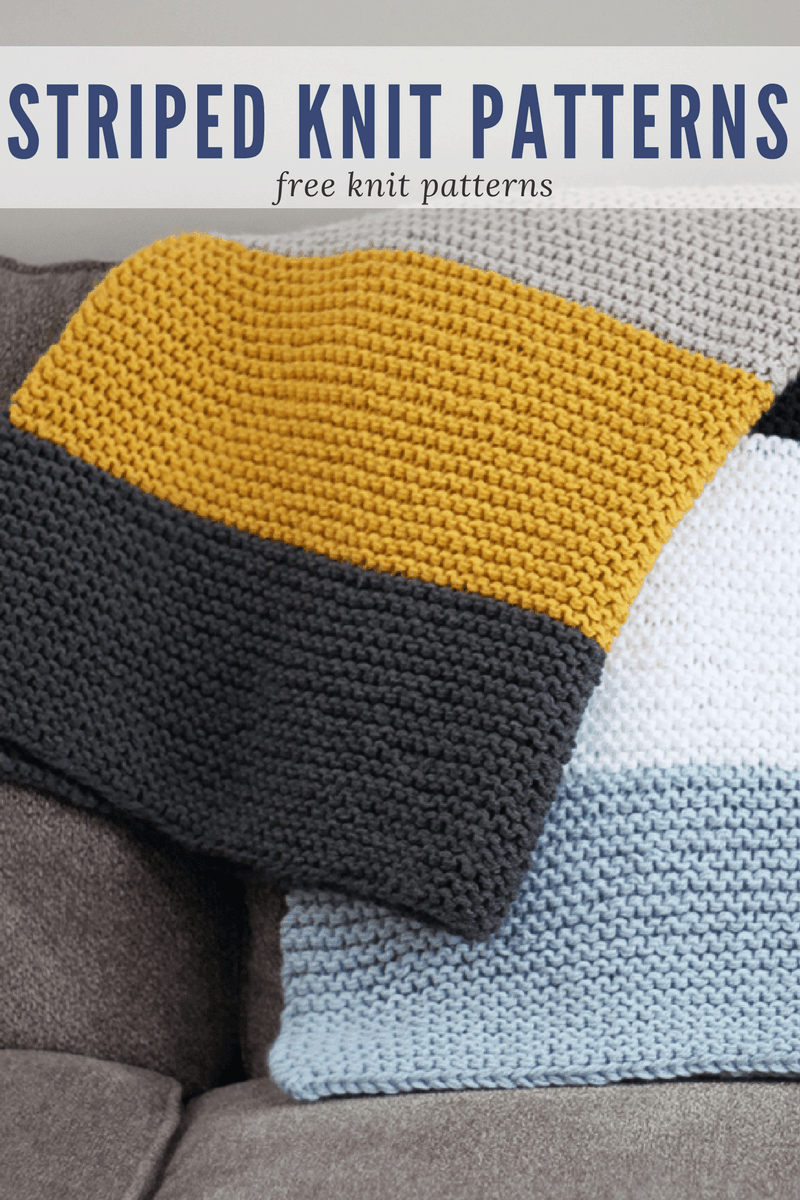 Striped Knit Patterns ⋆ Rescued Paw Designs Crochet