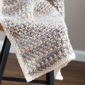 Simple Crochet Throw Blanket