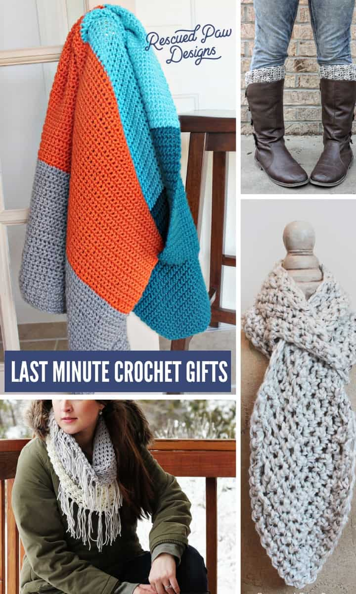 Last Minute Crochet Gifts- Make Last Minute Crochet Christmas Gifts in a Weekend! www.rescuedpawdesigns.com