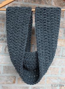 Easy Double Crochet Infinity Scarf Pattern