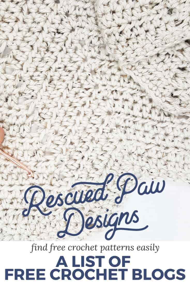 Crochet Blogs with Free Patterns ⋆ Rescued Paw Designs Crochet