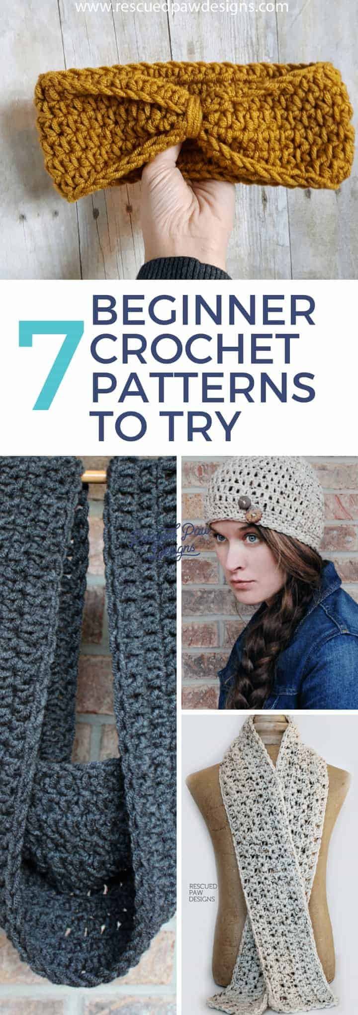 With a never ending supply of crochet tutorials for beginners I've handpicked some of my favorites that contain some of the best crochet stitches for beginner crocheters! I know when I was first starting it was hard to find easy patterns to get me started. I always felt intimidated and worried that I couldn't finish a pattern. With this list of easy beginner crochet patterns you will not have to worry about that. I handpicked these to be easy to read and to work up. To start your new project just read on down to find the full list of free crochet patterns for beginners!