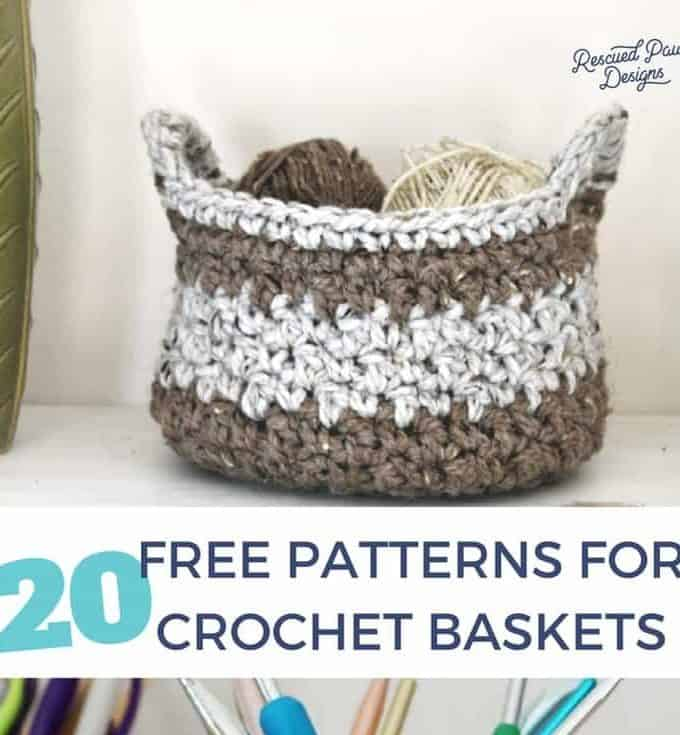 20 Free Crochet Basket Patterns