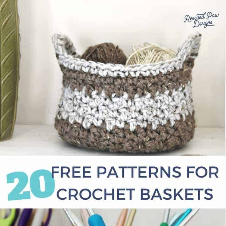 40 Free Crochet Basket Patterns How To Crochet 40 Basket Tutorials Gorgeous Free Crochet Basket Patterns