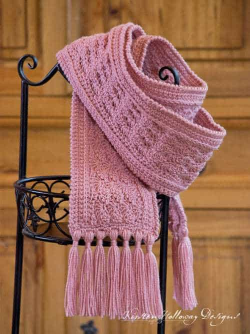 Crochet Heart Scarf Pattern