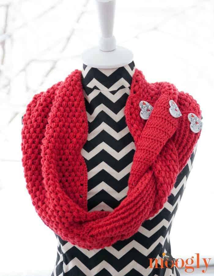 Valentine's Day Crochet Scarf