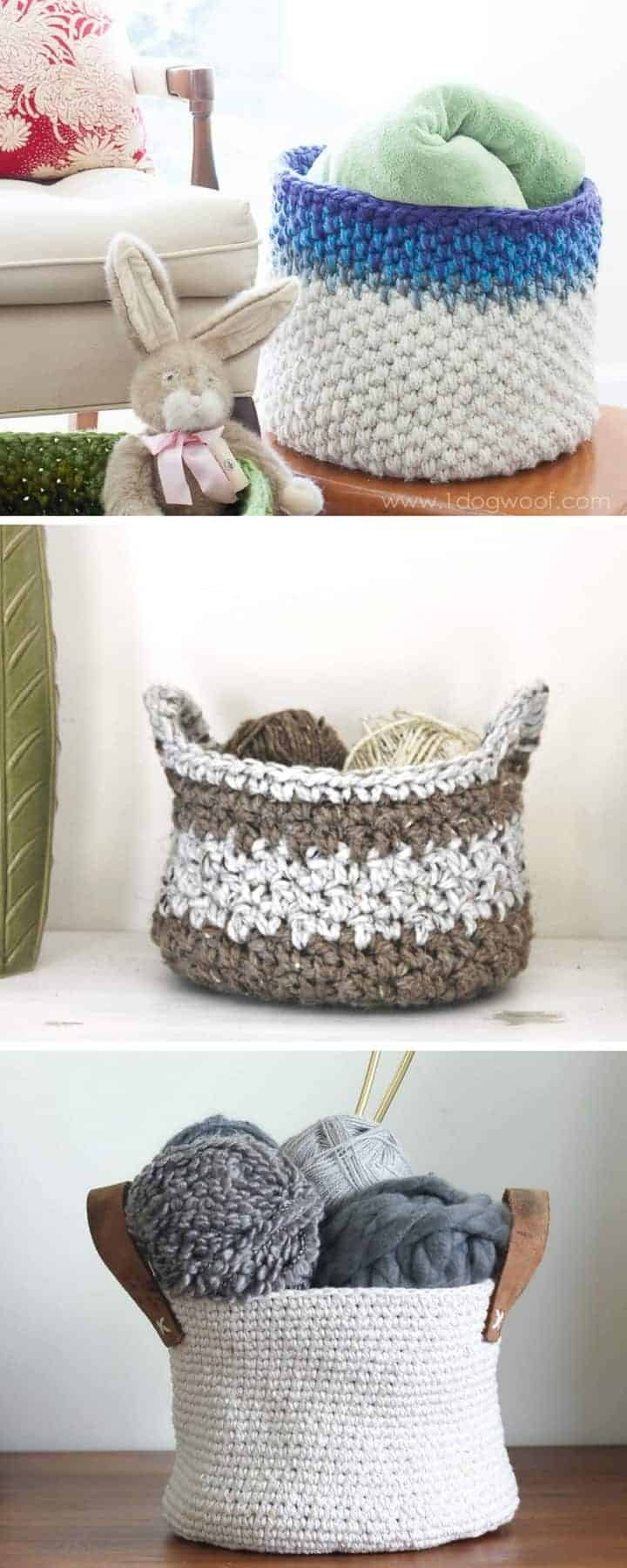 20 free crochet basket patterns rescued paw designs crochet 20 crochet basket patterns to make today bankloansurffo Image collections