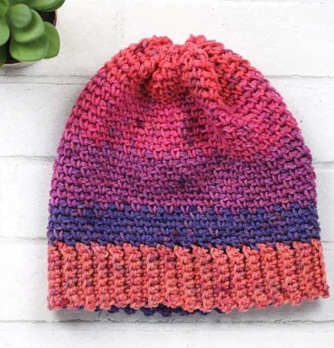 Simply Sweet Crochet Beanie Pattern