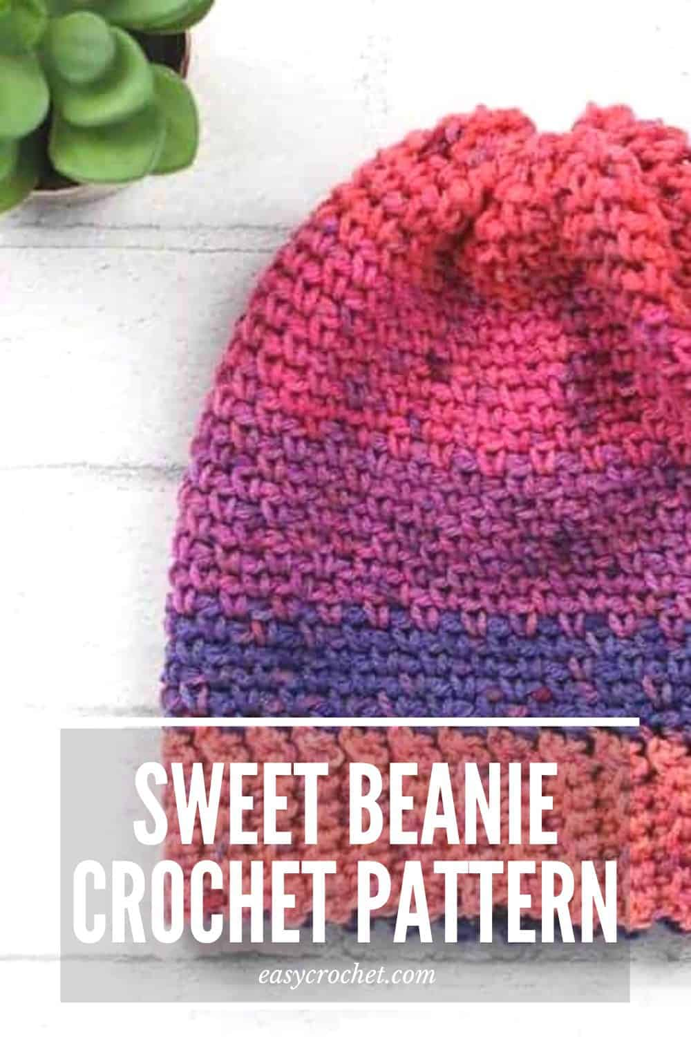 Sweet Pink crochet hat pattern via @easycrochetcom