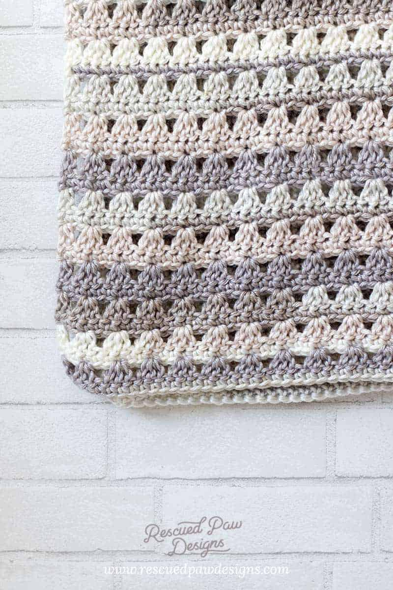 Neutral Crochet Blanket