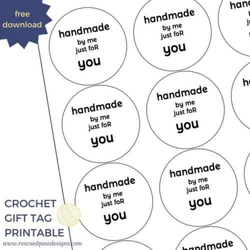 Free Printable Crochet Tags