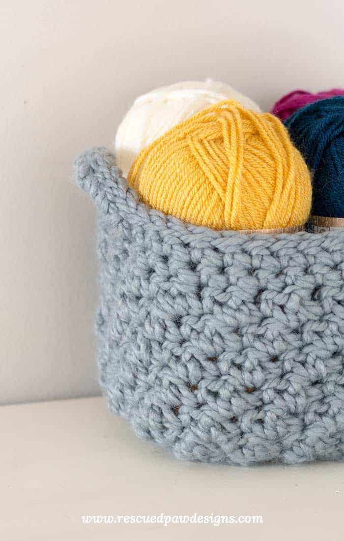 You made your very own basket and now you have even space to store your yarn stash! & Crochet Storage Basket Pattern - How to Make A Crochet Basket