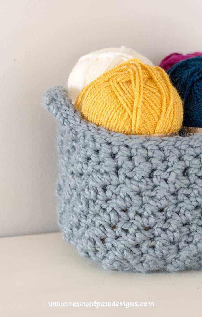 Crochet Basket Beginner Pattern