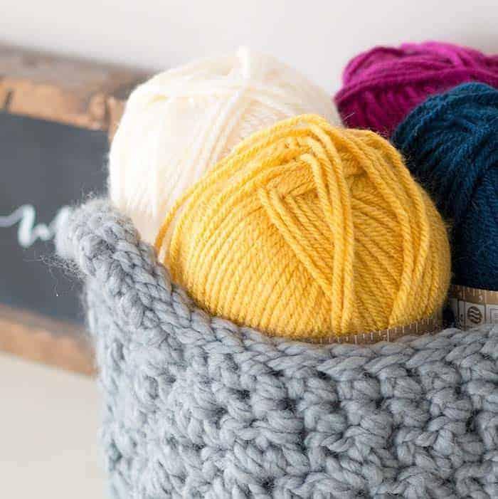 Crochet Easy Basket Pattern