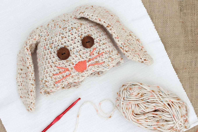 Bunny Crochet Hat pattern