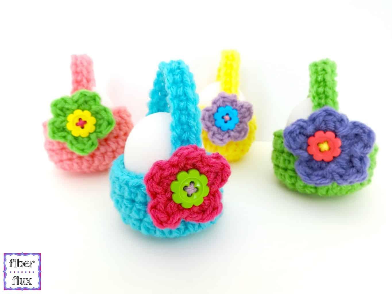 Crochet Easter Egg Baskets