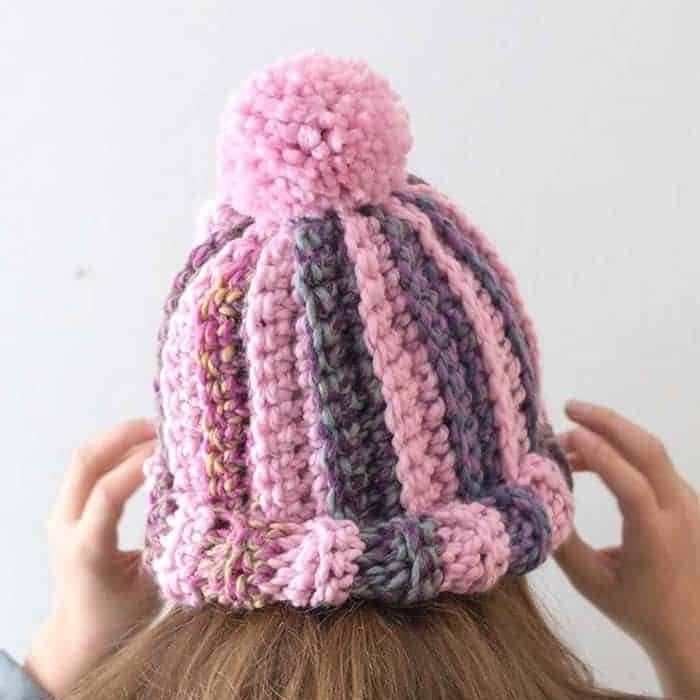 Simple One Stitch Bulky Crochet Hat