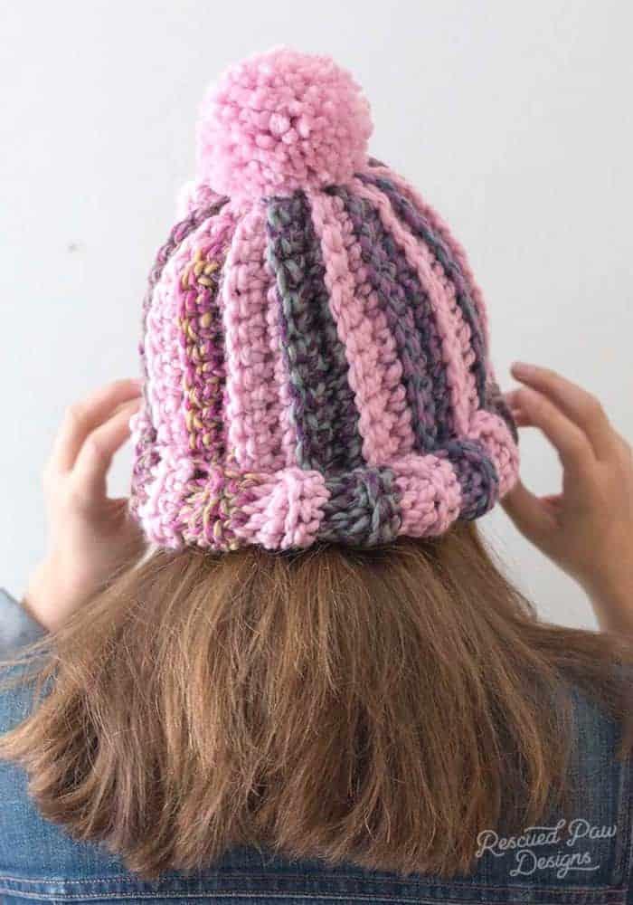 Simple One Stitch Crochet Hat
