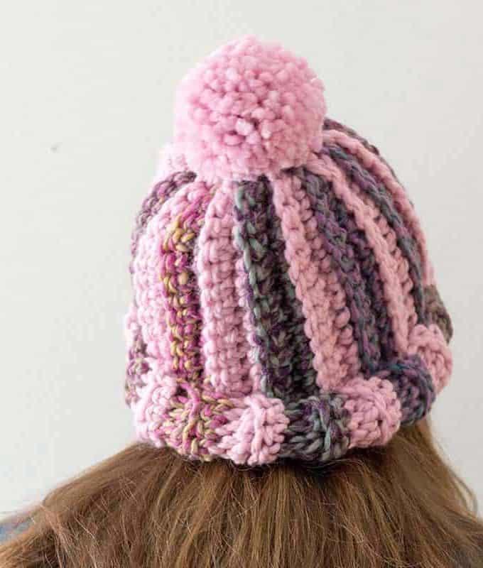 Striped Crochet Hat Pattern