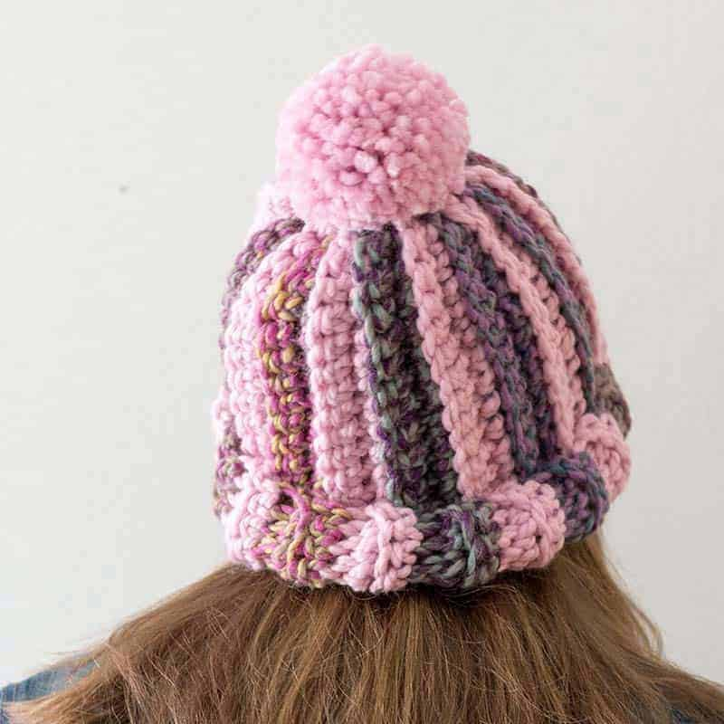 Chunky Striped Crochet Hat Pattern