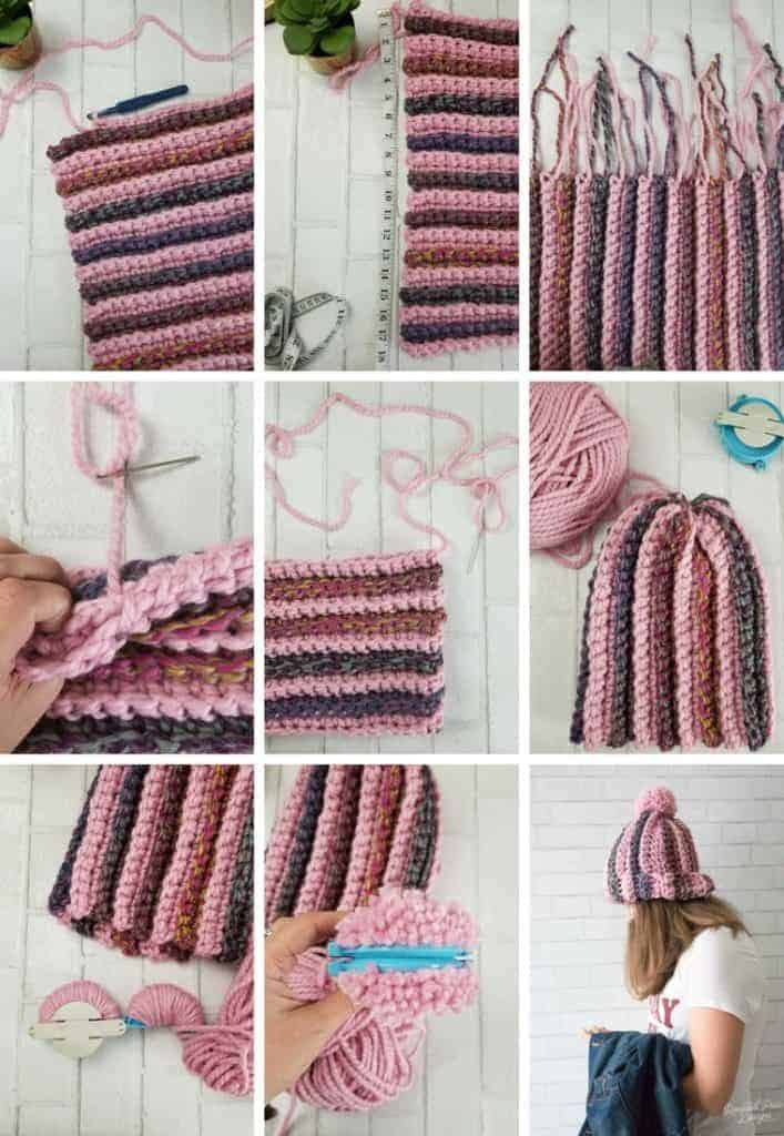 How to make a striped crochet hat