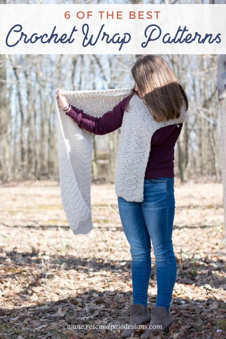 Six Crochet Wrap Patterns
