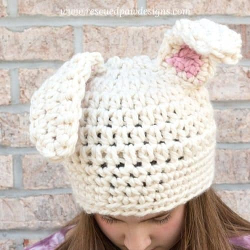 Crochet Floppy Bunny Ear Hat