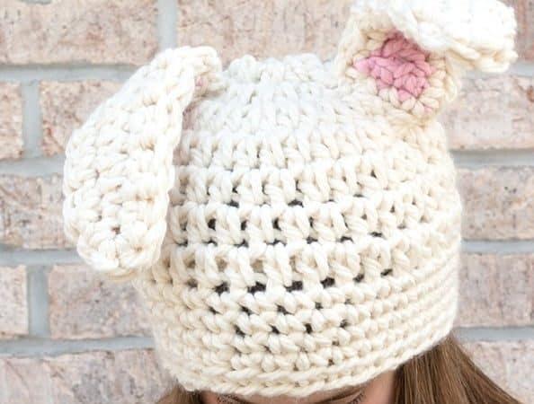 Crochet Floppy Bunny Ear Hat